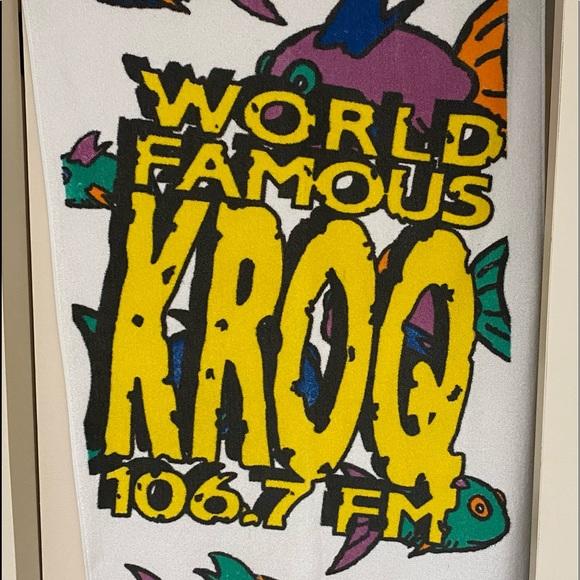 "🎶KROQ-106.7 FM- RARE Beach Towel 60"" x 30"""